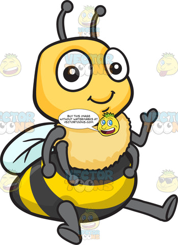 A Seated Adorable Bee