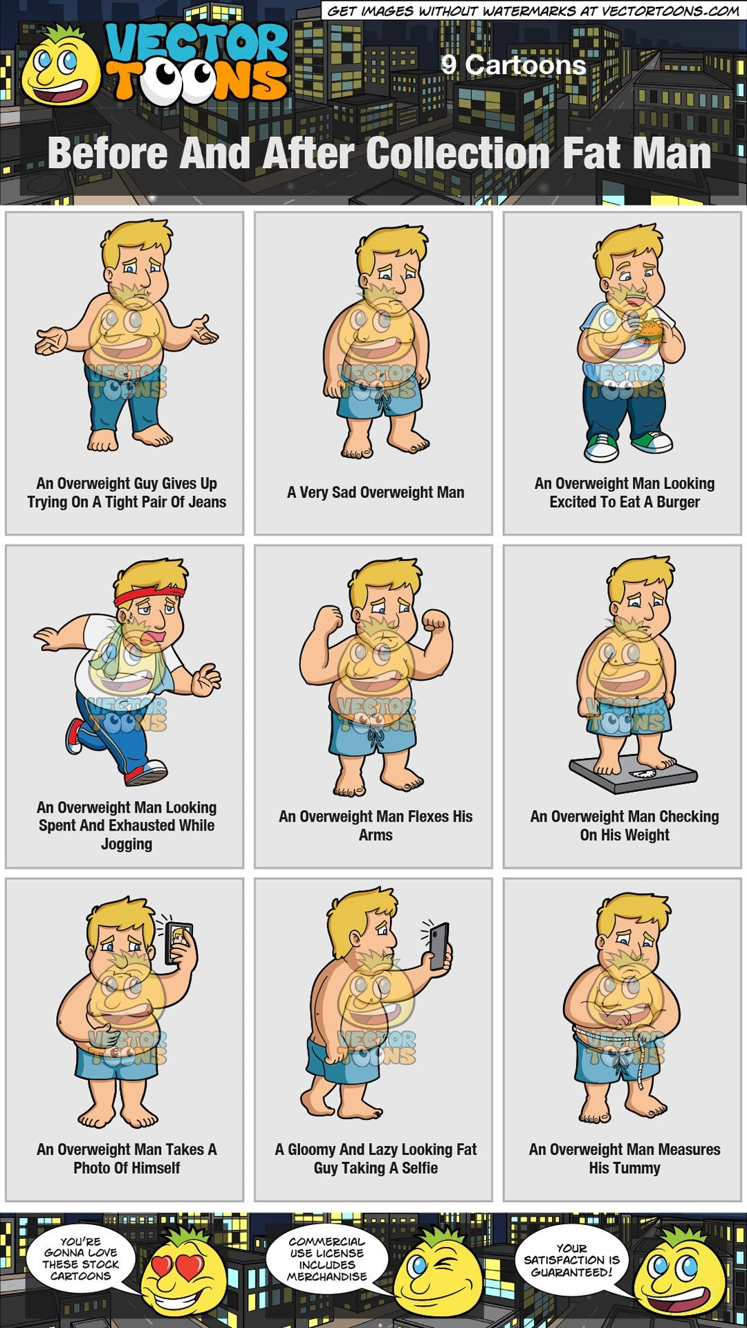 Before And After Collection Fat Man