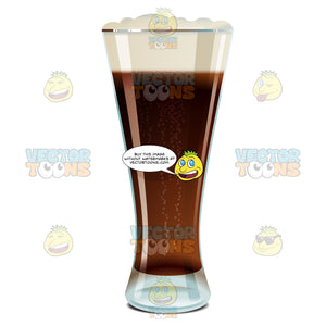 Weizen Glass Full Of Dark Beer With Froth At The Top