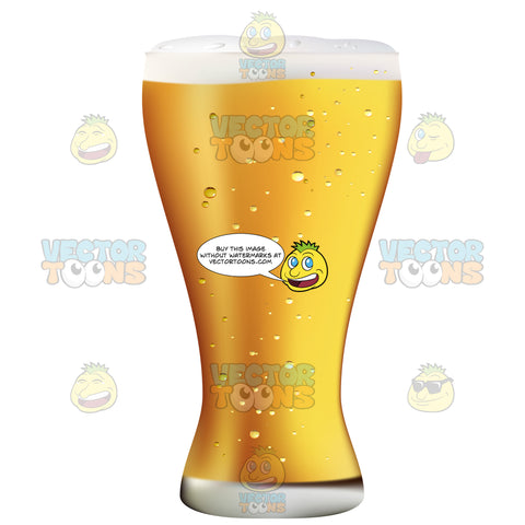 Weizen Glass Full Of A Light Colored Beer With Froth At The Top