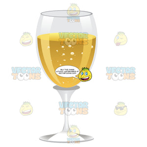 Wine Glass With A White Wine