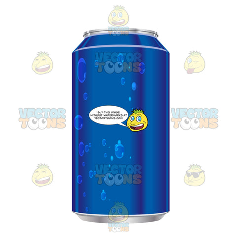 Blue Soda Can With No Label