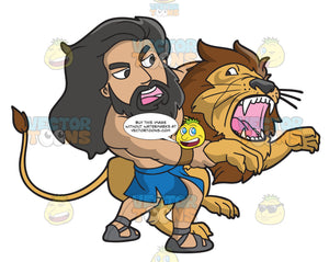 Samson Wrestles With A Lion