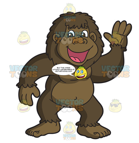 A Friendly Bigfoot