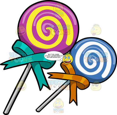 Two Swirly Lollipops
