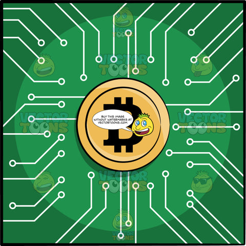 A Gold Bitcoin Chip