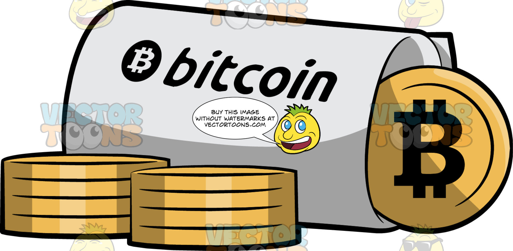 Rolls Of Gold Bitcoins
