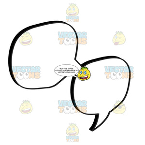 Two Connected Circle Talk Balloon
