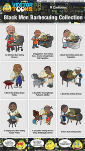 Black Men Barbecuing Collection