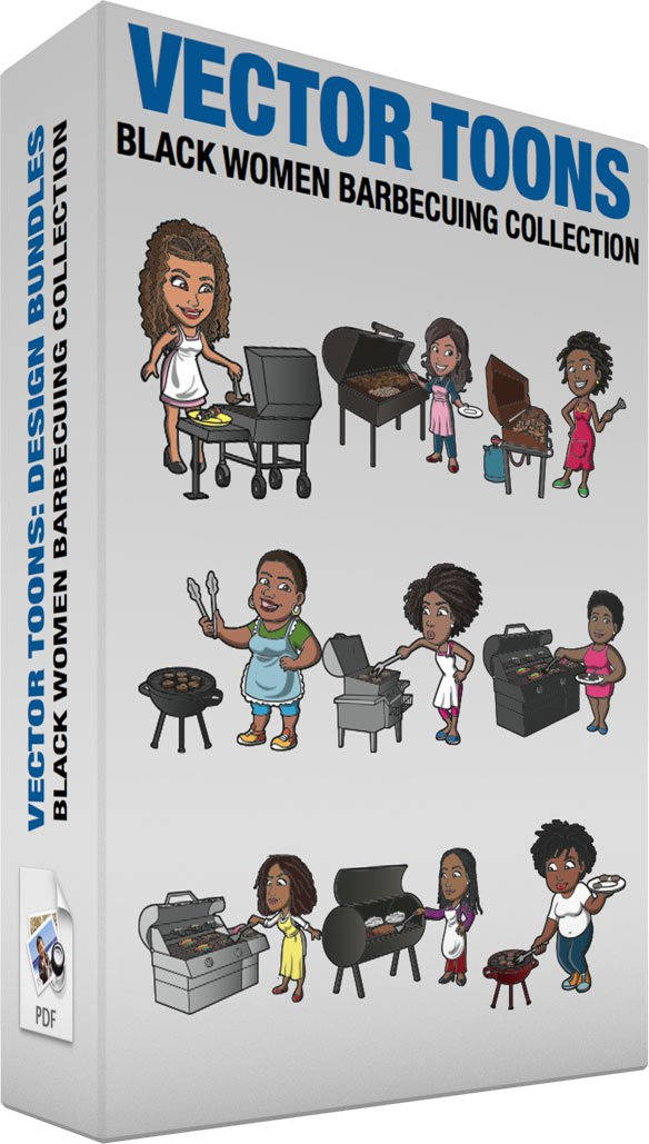 Black Women Barbecuing Collection