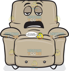 Bored And Tired Stuffed Chair Emoji