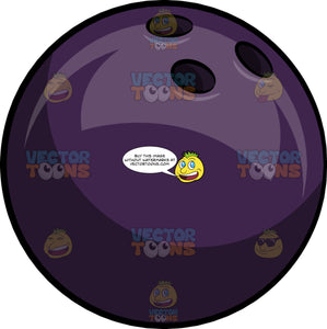 A Dark Purple Bowling Ball