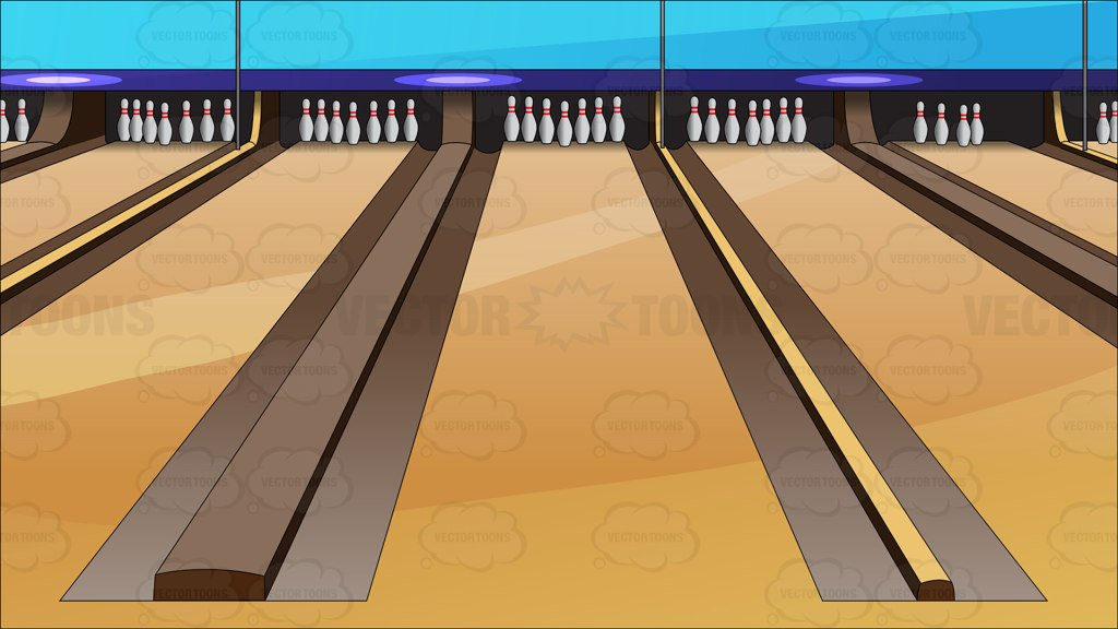 Bowling Lanes Background – Clipart Cartoons By VectorToons