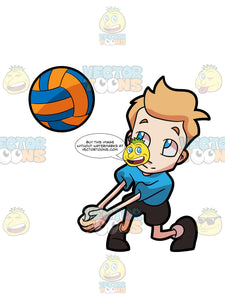 A Boy Playing Volleyball