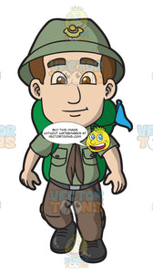 A Rover Scout Ready For Camping
