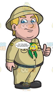 A Chubby Lifetime Boy Scout Trainer