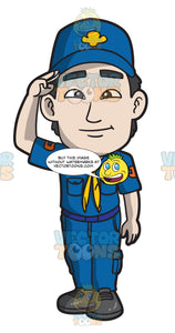 An Asian Boy Scout Member