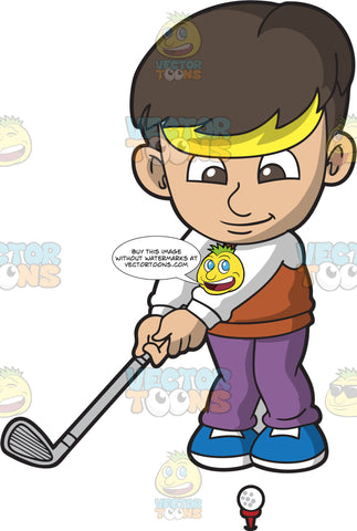 A Boy Playing Golf