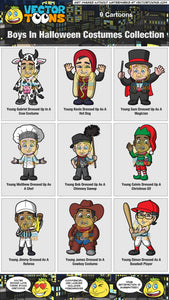 Boys In Halloween Costumes Collection