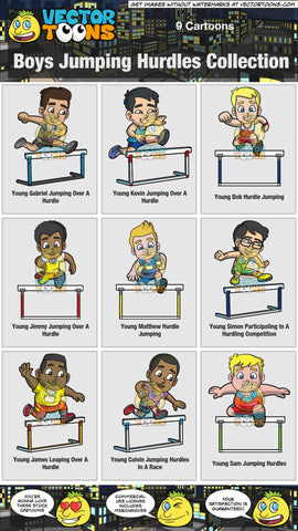 Boys Jumping Hurdles Collection