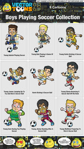 Boys Playing Soccer Collection