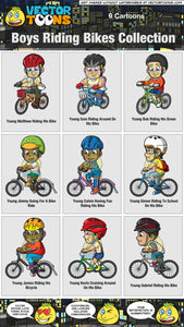 Boys Riding Bikes Collection