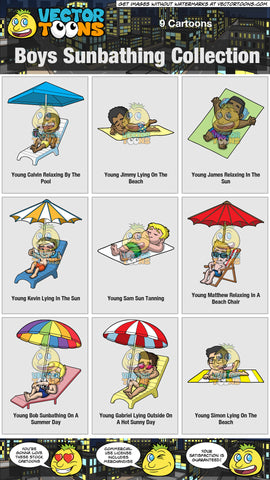 Boys Sunbathing Collection