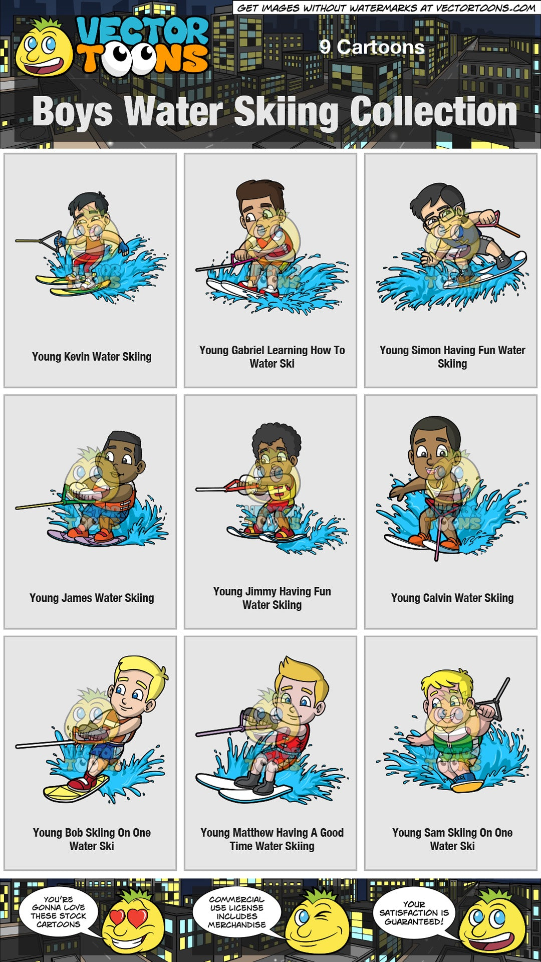 Boys Water Skiing Collection
