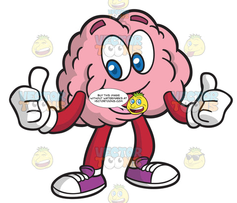 A Happy And Approving Brain