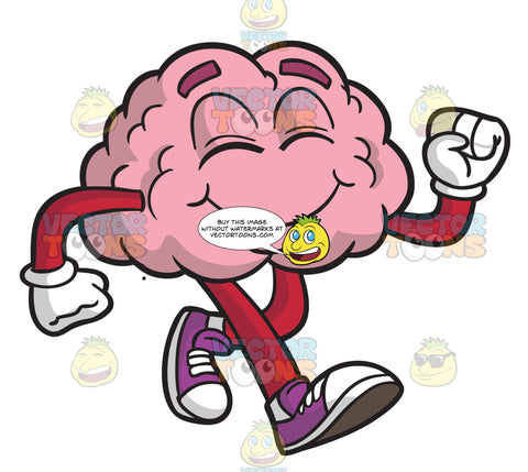 A Happy Walking Brain