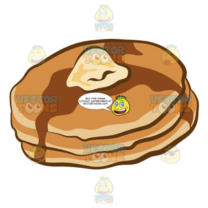 Stacks Of Pancake For Breakfast