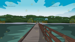 Bridge Leading To An Island Background
