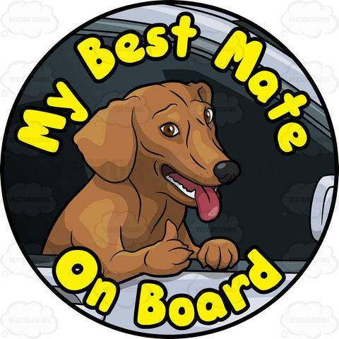 Brown Dog Best Mate On Board Pin