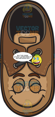 Brown Shoe With Beaming Look On Face Emoji