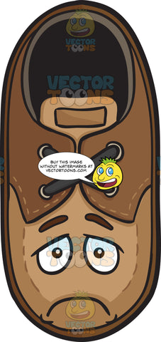 Brown Shoe With Depressed Look On Face Emoji