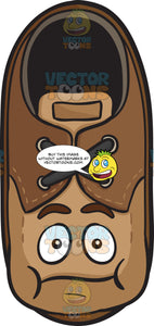 Brown Shoe With Puffed Cheeks Emoji