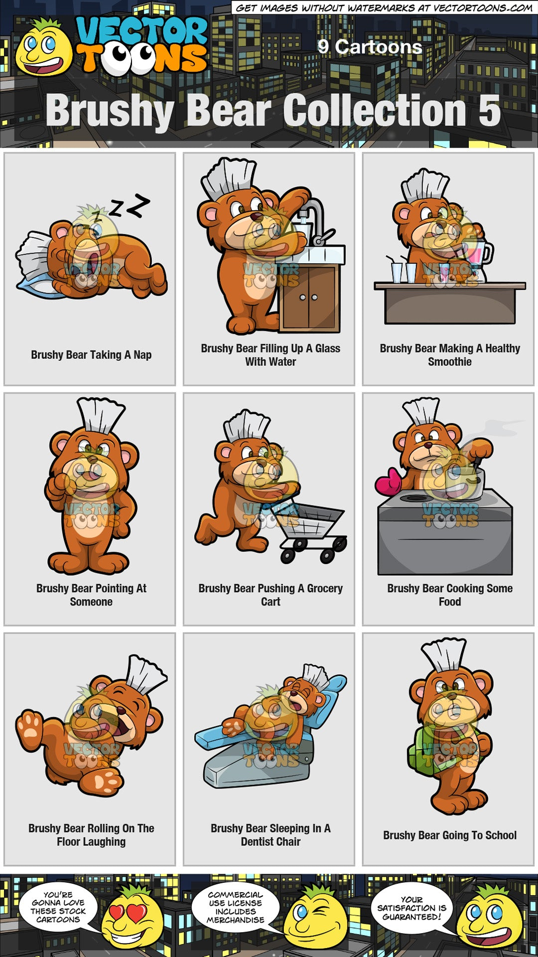 Brushy Bear Collection 5
