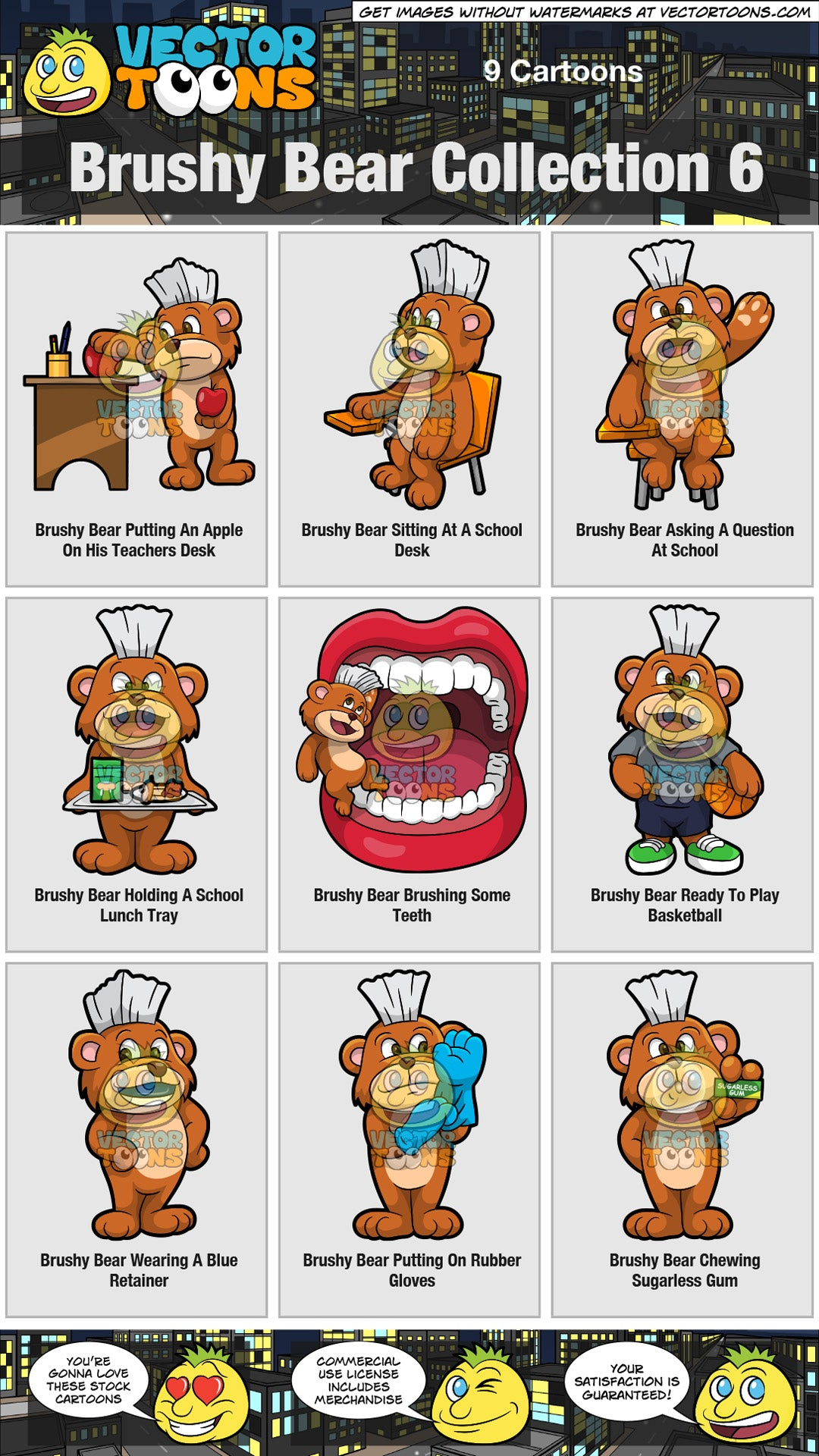 Brushy Bear Collection 6