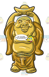 A Golden Laughing Buddha