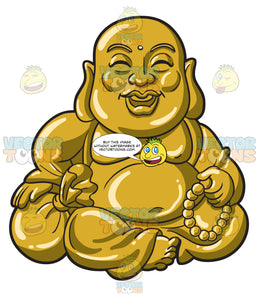 A Sitting And Laughing Buddha