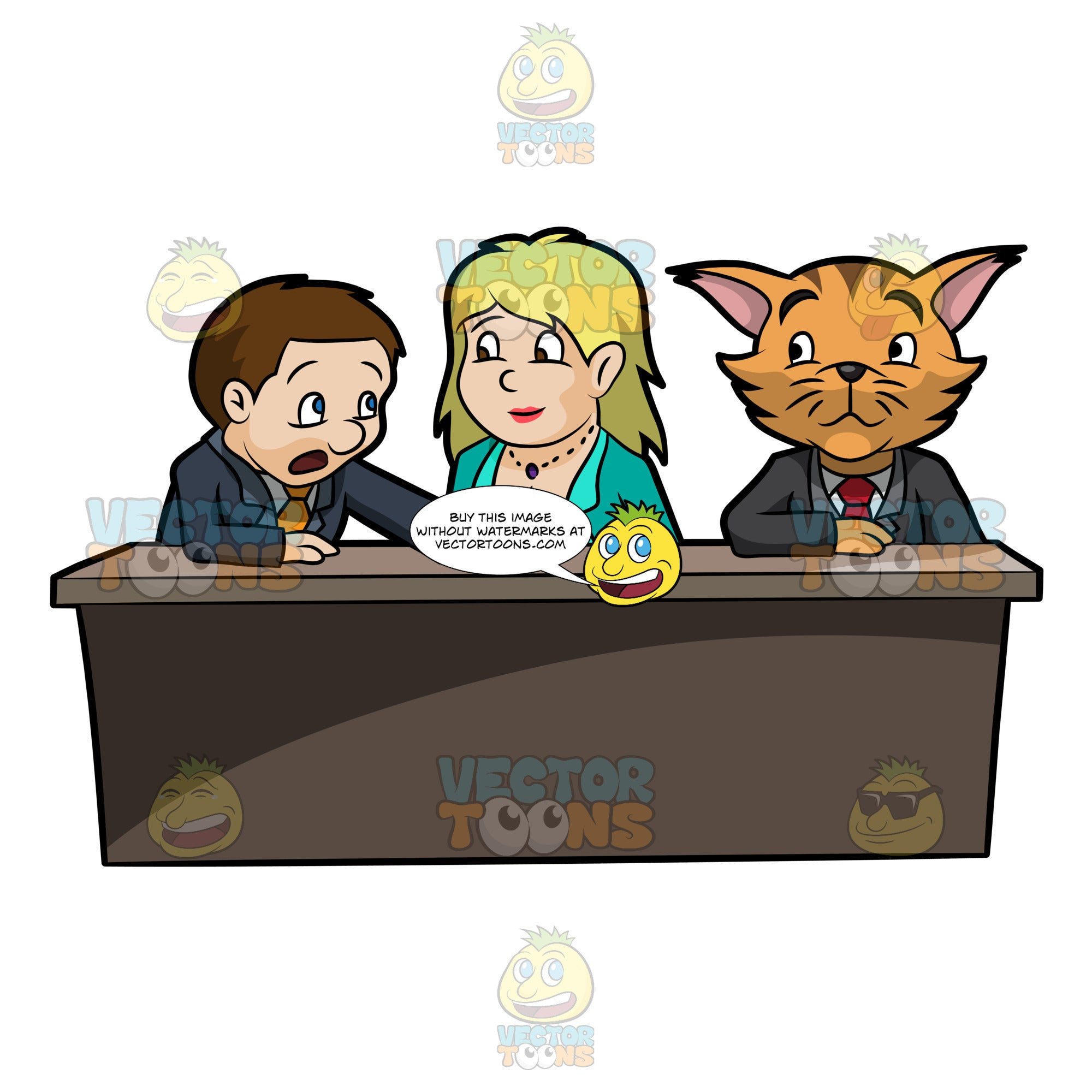 A Business Cat Participating In A Meeting