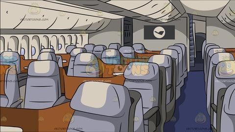 Business Class Airline Section Background