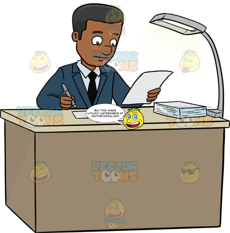 A Male Executive Signing Papers On The Table