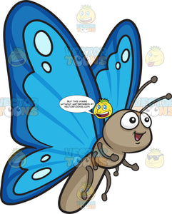 A Pretty Butterfly With Two Tone Blue Wings