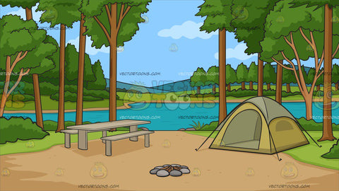 Campground During The Day Background