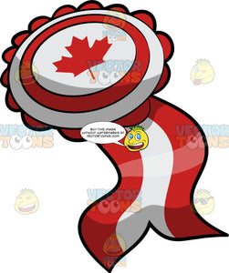 Canada Day Ribbon Badge