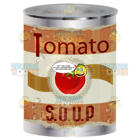 Tomato Soup Can With Worn Red Label