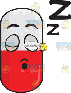 Medicinal Capsule Sleeping Soundly Emoji