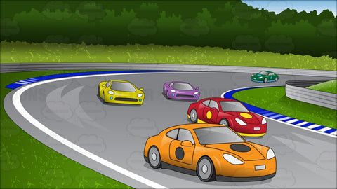 Car Race Track Background