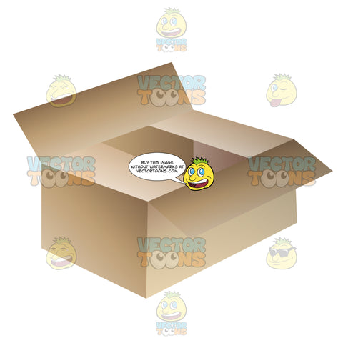 Typical Cardboard Box Used For Packing Or Moving
